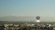 Explosion Rocks L.A. Stock Footage