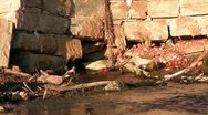 Old rock spring fed water works Stock Footage