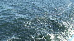Water stream near cruise ship 1 Stock Footage