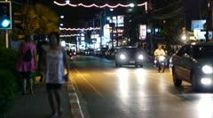 Thailand night life 9 - stock footage
