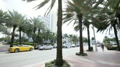 Collins Avenue Miami Beach Stock Footage