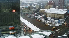 Traffic In Kiev Evening Timelapse Stock Footage