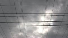 Powerlines converging timelapse - stock footage