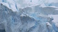 Stock Video Footage of icy glacier in antarctica