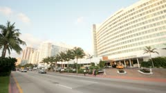 Fontainebleau Hotel Miami Beach, FL, USA Stock Footage
