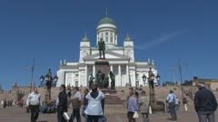 Timelapse of Evangelical Lutheran cathedral Helsinki, Finland Stock Footage