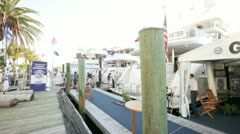 Galati Yacht Sales Pavilion at the Miami International Boat Show Stock Footage