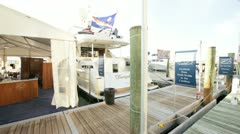 HMY Yacht Pavilion at the Miami International Boat Show - stock footage