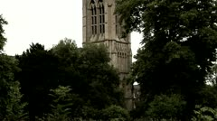 Spire, St. Mary's Church, Clissold Park, London Stock Footage