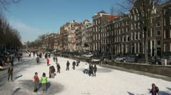 Beautiful Amsterdam in Winter Stock Footage