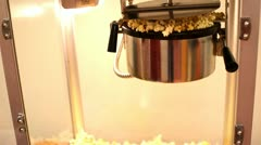 Movie style popcorn popping Stock Footage