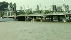 Hungerford bridge City of London Bridges Stock Footage