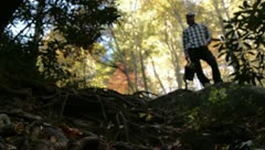 hiking AT - stock footage