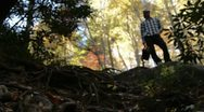 Stock Video Footage of hiking AT