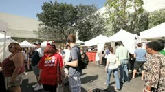 Coconut Grove Art Festival 2012 Stock Footage