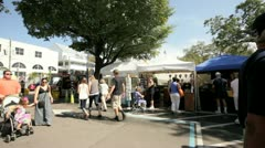 Video of the Coconut Grove Arts Festival - stock footage
