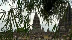 Prambanan temple. Java. Indonesia Stock Footage
