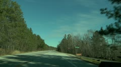 Time lapse drive - stock footage