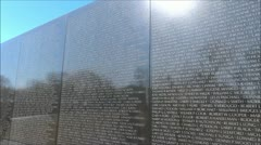 Third Person Moving View of Vietnam Memorial Stock Footage