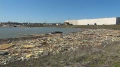 Harrisburg Storm Damage 19 HD Floating Debris Stock Footage