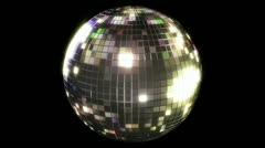 Stock Video Footage of Looping Mirror Ball with Alpha