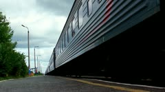 Departing locomotive Stock Footage