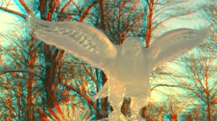 Stereoscopic 3D of ice art competition in Helsinki 12v02 combo - stock footage