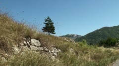 Montenegro, mountain view Stock Footage