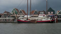 Harbour of Volendam, near Amsterdam Stock Footage