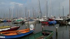 Harbour of Marken, near Amsterdam Stock Footage