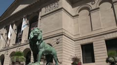 CHICAGO-0578 FIELD MUSEUM PANORAMA Stock Footage
