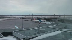 Montreal Airport Time Lapse Stock Footage