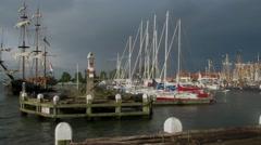 Harbour of Volendam Stock Footage