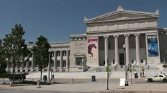 CHICAGO-0583 FIELD MUSEUM PANORAMA Stock Footage