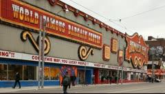 Honest Eds a landmark discount store  in Toronto Ontario Canada, Stock Footage