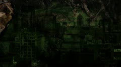 Ghost Forest City Stock Footage