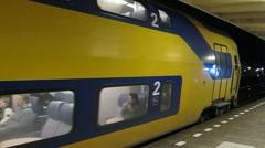 Train departure Stock Footage