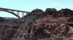 The bridge near Hoover Dam. Arizona / Nevada, USA Stock Footage