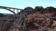 The bridge near Hoover Dam. Arizona / Nevada, USA Stock Footage