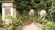 Stock Video Footage of Old Cemetery, Borough of Hackney, London