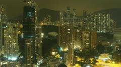 Time Lapse Hong Kong at Night. Stock Footage