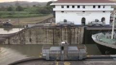 Panama Canal Lock Stock Footage