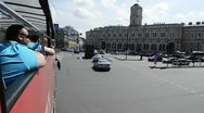 Nevsky Streer by Tour Bus, St. Petersburg, Russia Stock Footage