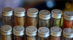 Spice Rack Panning Shot Right Stock Footage