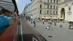 Tourist attractions by Tour Bus, St. Petersburg, Russia - stock footage
