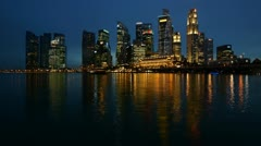Singapore Business Center, time-lapse Stock Footage