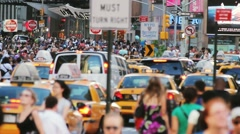 Unrecognizable crowd New York City NYC - stock footage