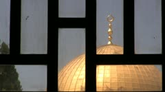 Dome of the Rock from Masjid Aqsa Stock Footage