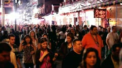Mardi Gras 2012 packed streets on Bourbon - stock footage