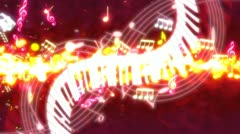 Music Streak Looping Animated Background R2447 Stock Footage